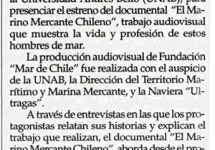 "Estrenan Documental ""El Marino Mercante Chileno"""