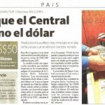 La Hora: Hasta que el Central intervino el dólar