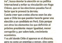 Diario Financiero: Humala y Chile