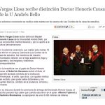 La Nación.cl: Vargas Llosa recibe distinción Doctor Honoris Causa de la U Andrés Bello