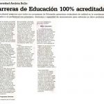 El Mercurio, Ediciones Especiales: Universidad Andrés Bello: Carreras de Educación 100% acreditadas
