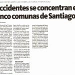 La Hora: Accidentes se concentran en cinco comunas de Santiago