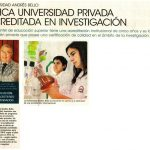 El Mercurio, Alternativas Académicas: Única Universidad Privada en Investigación