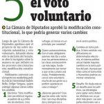 Publimetro: 5 claves sobre el voto voluntario