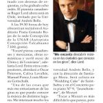 El Mercurio: Pianista canadiense Roger Lord en gira por Chile