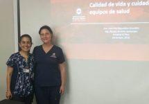 Académicas de Enfermería realizaron taller vivencial en el Hospital El Pino sobre estilos de vida saludables en el trabajo