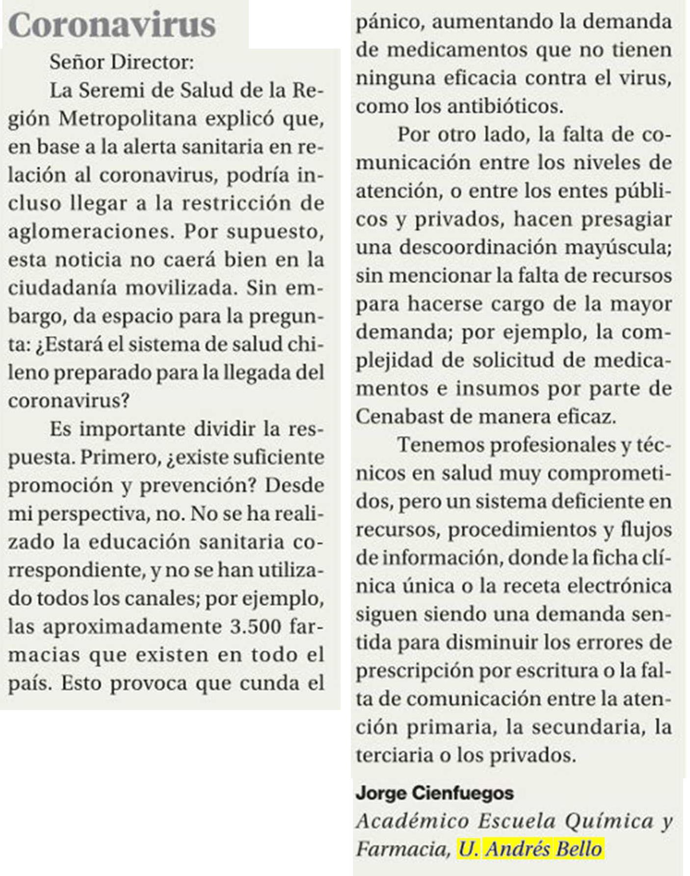 coronavirus LaSegunda