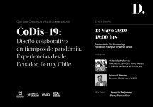Conversatorio compartirá experiencias de diseño colaborativo latinoamericano en tiempos de pandemia