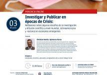 ¿Cómo investigar y publicar sobre ciencia en época de crisis?