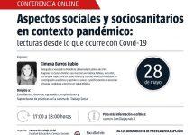 Charla online de Trabajo Social profundizará en los aspectos sociales y saciosanitarios ante el Covid-19