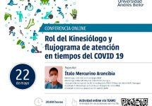 """Kinesiología realizó conferencia llamada """"Rol del Kinesiólogo y flujograma de atención en tiempos del COVID 19"""""""