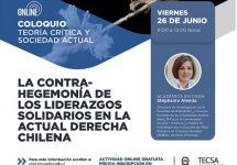 """Doctorado Tecsa invita a """"La contra-hegemonía de los liderazgos solidarios en la actual derecha chilena"""""""
