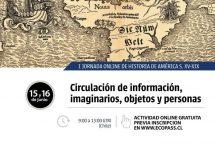 """Licenciatura en Historia realizará la """"I Jornada de Historia de América s. XV-XIX. Circulación de información, imaginarios, objetos y personas"""""""