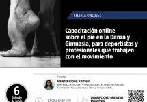 Capacitación Virtual: Kinesiología Viña del Mar realizará conferencia sobre el pie en la danza y la gimnasia