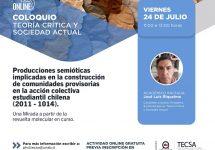 Invitan a reflexionar sobre el movimiento estudiantil 2011-2014 en Chile