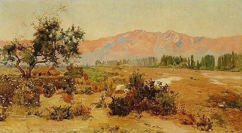 Valenzuela LLanos, Paisaje con Cordillera, MNBA