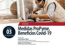 Invitan al Webinar: Medidas ProPyme, Beneficios Covid-19