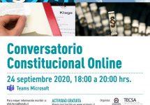 Impulsan Conversatorio Constitucional Online para debatir sobre el proceso