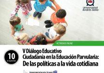 """Convocan al V Diálogo Educativo """"Ciudadanía en la educación parvularia: De las políticas a la vida cotidiana"""""""