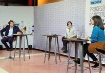 Javiera Parada y Diego Schalper enfrentaron sus posturas de Apruebo y Rechazo