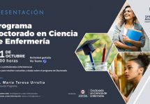 Dra. María Teresa Urrutia presentará Programa de Doctorado en Ciencia de Enfermería
