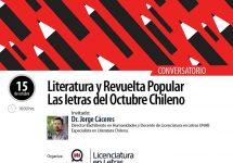 Invitan a conversar sobre la revuelta popular de octubre desde la literatura