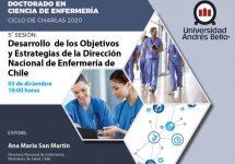 Directora Nacional de Enfermería en MINSAL dictará última charla de Ciclo efectuado por Doctorado en Ciencias de Enfermería