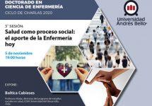 Doctorado en Ciencia de Enfermería abordará la salud como proceso social