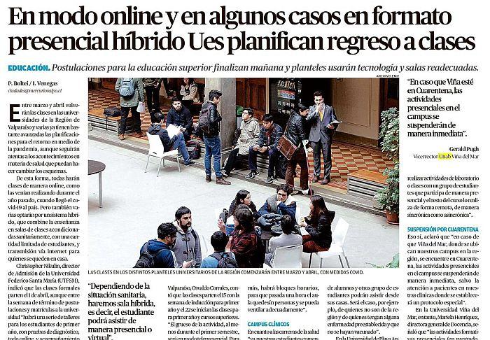 En modo online y en algunos casos en formato presencial híbrido Ues en la región de Valparaíso planifican regreso a clases