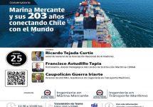 Ingeniería en Marina Mercante Sede Viña del Mar invita a conversatorio sobre la especialidad y sus 203 años conectando Chile con el Mundo