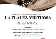"""La Dirección de Extensión Cultural los invita a disfrutar del concierto: """"La Flauta virtuosa"""" de los maestros italianos"""