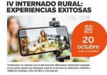 """Nutrición y Dietética realizará su IV Webinar Internado Rural """"Experiencias Exitosas"""""""